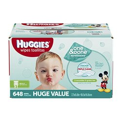 Huggies One & Done Refreshing Baby Wipe Refill, 600 Count