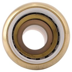 "SharkBite 3/4"" Brass Push-to-Connect PVC IPS x CTS Conversion Coupling"