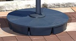 "Santorini II 10"" Cantilever Umbrella Base - Black (S-NU6000)"