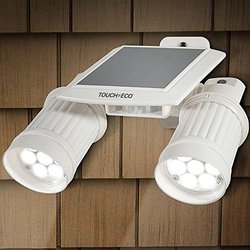Twinspot Pro Solar Security Light: White/1-pack