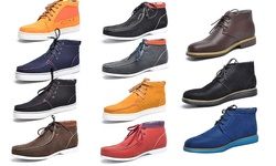 Men's Fashion Casual Ankle Boots: Allan Brown/7.5