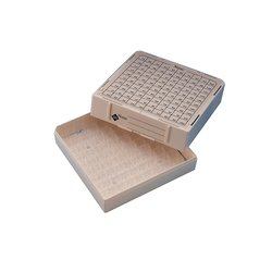 Nunc Polycarbonate White Cryoboxes holds 100 vials Case of 4