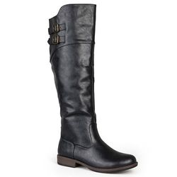 Journee Women's Extra Wide Calf Riding Boot - Black - Size: 8