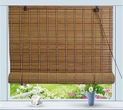 """Bamboo Roll Up Window Blind Sun Shade - 36"""" W x 72"""" H"""