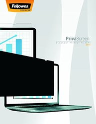 Fellowes PrivaScreen Blackout Privacy Filter for MacBook Air 13 Black