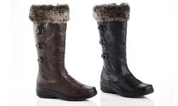 Rasolli Wide Width Lala-10 Comfort Riding Boot: Black/8.5
