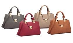 Dasein Women's Fashion Double Pocket Satchel: Xl 08 6809/ Red