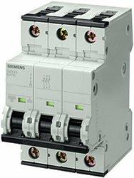 Siemens 5SY43067 3 Pole Breaker 6-Amp DIN Rail Supplementary Protector