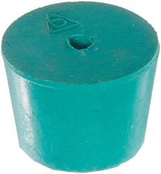 Green Rubber Neoprene 1- Hole Stopper, 32mm Top Diamete, 6 Size, 25mm L
