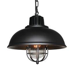 LNC A02921 Vintage Industrial Iron Glass Pendant Light