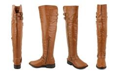 Olivia Miller Women's Lafayette Over-The-Knee Boots - Cognac - Size: 10