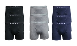 Men's Soft Knit Tagless Boxer Briefs: Heather Grey/small (9-pack)