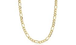 Fremada Unisex 14k Yellow Gold filled Figaro Link Chain Necklace - Sz: 20