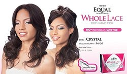 FreeTress Equal FUTURA Whole Lace Wig - CRYSTAL - 1B OFF BLACK