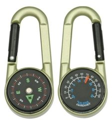 Explorer Compass Carabiner with Thermometer - 2-Pack