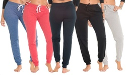 Coco Limon Women's Long Joggers Pants - Pack of 5 - Assorted - Size: M