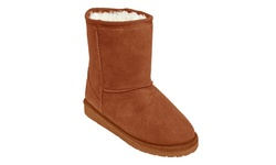 Dawgs Girl's Microfiber Sheepdawgs Boots - Chestnut - Size: 4/5