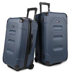 U.S. Traveler Long Haul Cargo Trunk Luggage Set (2-Piece): Steel Blue