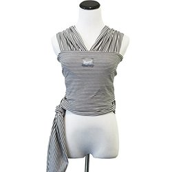 Happy Wrap Organic Baby Carrier, Slate Stripe
