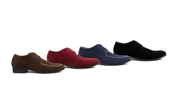 Royal Men's Moc Toe Lace-up Dress Shoes: Burgundy/12
