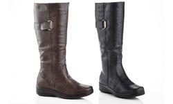 Rasolli Wide Width Comfort Riding Boot Lala-11 Black 11