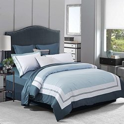 Superior 100% Cotton 3PC Duvet Cover Set - Meridian - Size: Full-Queen