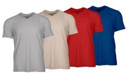 Men's Slub Cotton V-neck T-shirt Mystery Deal (3-pack): Medium