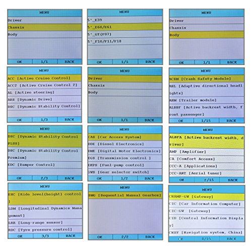 Creator C310 V5 5 Bmw Obdii Multi-system Scan Tool Engine Fault Code