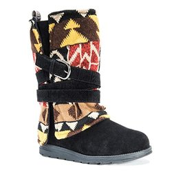 Muk Luks Women's Nikki Winter Boot - Black Patterned - Size: 6 M US