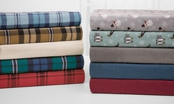 Wexley Home Flannel Sheet Set - Natural Plaid - Size: King
