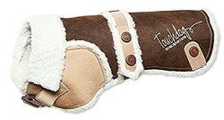 Touchdog Sherpa Bark Designer Dog Coat MD Brown Brown