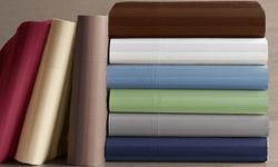 1000tc Cvc Sateen Sheet Set: Khaki/king