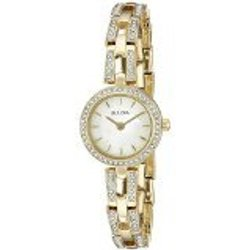 Bulova Women's Crystal Analog Display Quartz Gold Watch