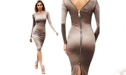 Women's Victoria Dress - Beige - Medium