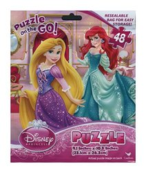 Disney Princess 48 Piece Puzzle on the Go in Foil Bag