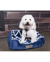 "Comfy Pooch Meggie Pet Bed Color: Navy Blue, Size: Small (20"" L x 16"" W)"