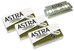 Astra 5-count Platinum Double Edge Safety Razor Blades - Pack of 5