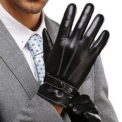 Best Winter Men's Leather Gloves Made of Australia Lambskin Drive/work/motorcycle Riding/cycling LESS THAN $27.88 ARE FAKE, PLEASE FOUCS ON GENUINE KWESOR GLOVES