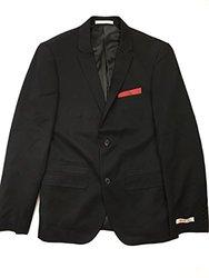 Edge By Wd-ny Men's Reversible Mixed-Media Blazer - Black - Size: 2XL