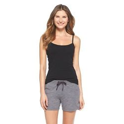 Gilligan & O'Malley Women's Knit Sleep Cami - Black - Size: Small