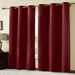 VCNY Radiance Foamback Blackout Grommet Window Panel Pair Energy Saving 38 x 84 Red