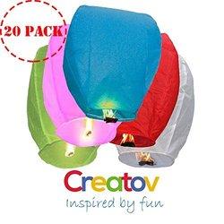 Creatov Chinese Flying Sky Lanterns - Paper Wish Lanterns - 20 Pack