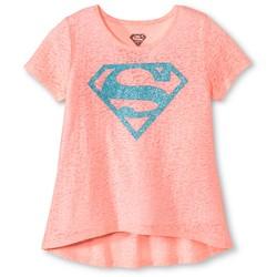 Warner Brothers Girls' Superman Short Sleeve Tee - Orange - Size: Medium