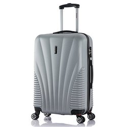 Inusa Chicago Hardside Spinner Luggage: Silver-25'' Lightweight/1-piece