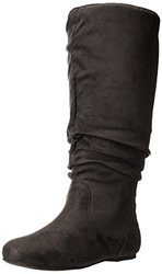 Brinley Co Women's 02wc Slouch Boot, Grey Wide Calf, 11 M US