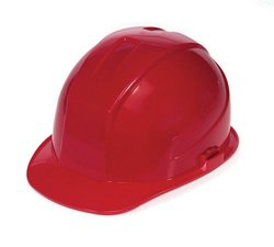 Liberty DuraShell HDPE Cap Style Hard Hat with 6 Point Pinlock Suspension, Red (Case of 6)