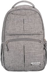 Mozone Large Lightweight Water Resistant College School Laptop Backpack Travel Bag (Grey)