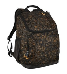 """Embark Recycled Content Future Tech Backpack - Gold Floral - Size: 17.5"""""""