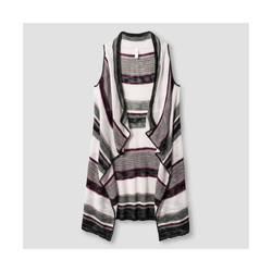 Xhilaration Girl's Striped Sweater Vest - Purple - Size: Small