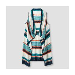 Xhilaration Girl's Striped Sweater Vest - Green - Size: Small